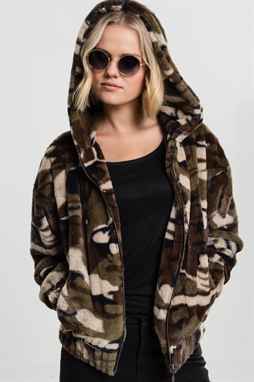 Ladies Camo Teddy Jacket